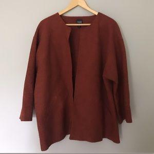 Eileen Fisher Burnt Orange Alpaca Wool Sweater